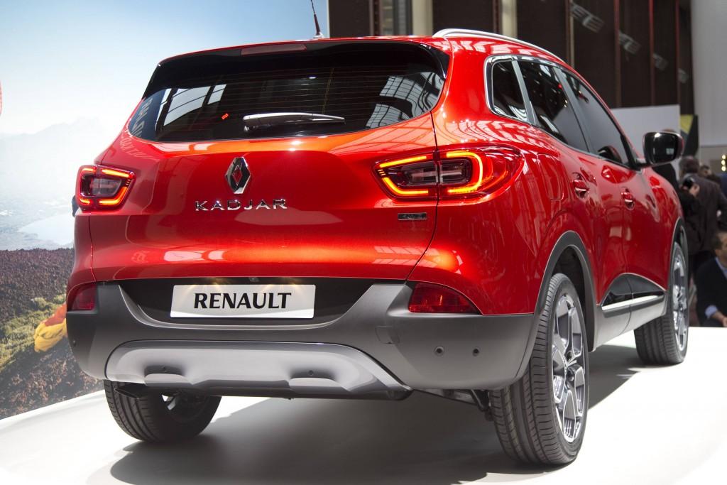 Renault Kadjar, нов кросоувър SUV, появи се по време на презентация в Saint-Denis близо до Париж на 2 февруари 2015 г. Френският производител на автомобили Renault стартира първия си компактен SUV в понеделник, като се стреми да подражава на японскя си успешен партньор Nissan 7201.T